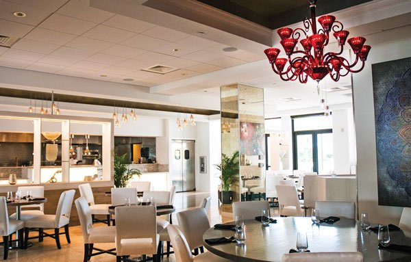 Naples Bay Resort lobby in the Florida Gulf Coast
