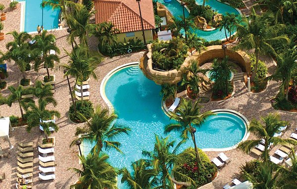 Naples Bay Resort pools in the Florida Gulf Coast