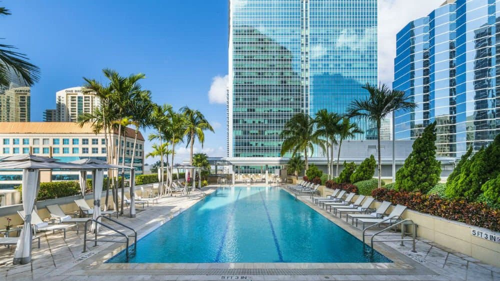 Conrad Miami pool in Downtown Miami