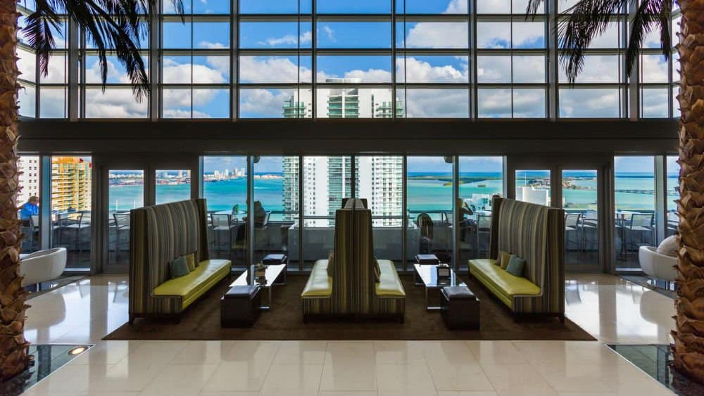 Conrad Miami lounge area in Downtown Miami