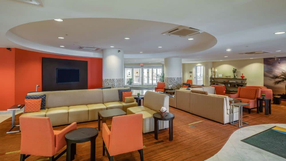 Marriott Jacksonville lounge area in the Florida East Coast
