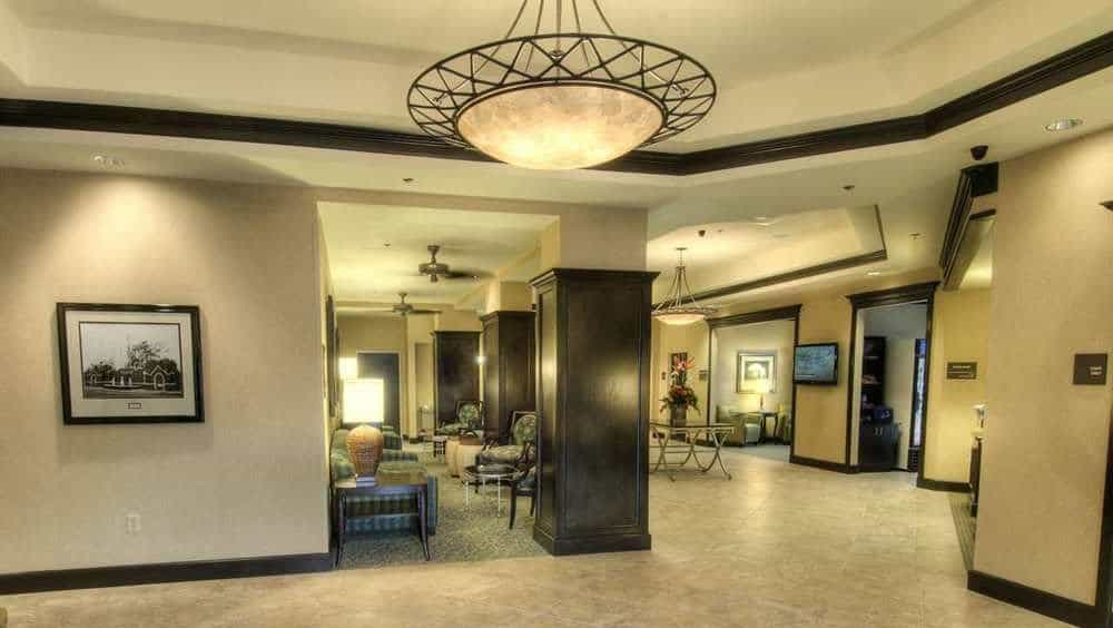 Hampton Inn lobby on Daytona Beach