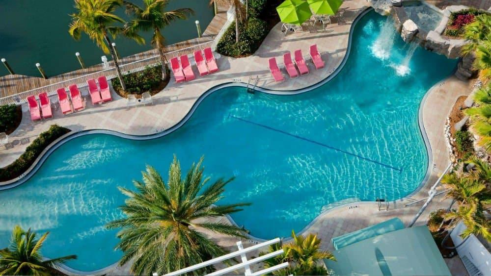 Hyatt Regency pool in Sarasota, Florida