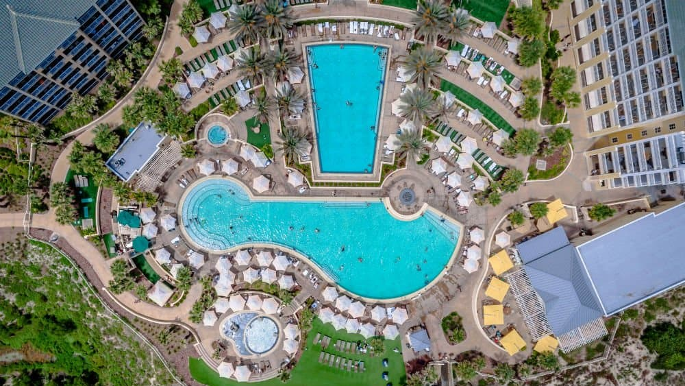 Omni Amelia Island Plantation Resort overhead in the Florida East Coast