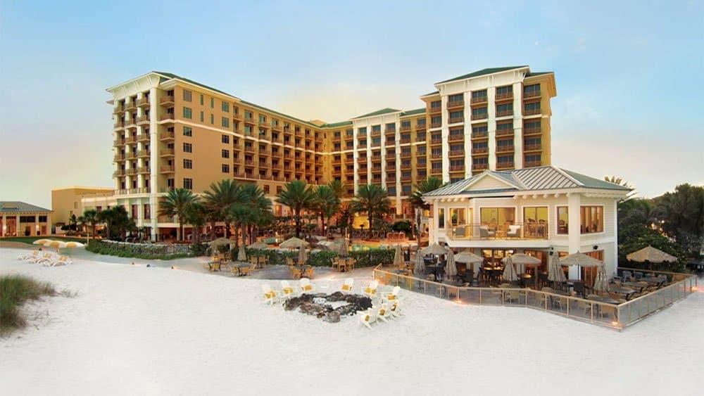Sandpearl Resort beach in St Petersburg Florida