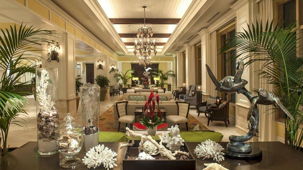 Sandpearl Resort lobby in St Petersburg Florida