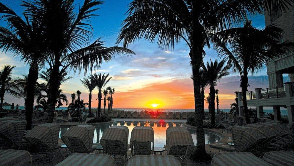 Sandpearl Resort sunset in St Petersburg Florida