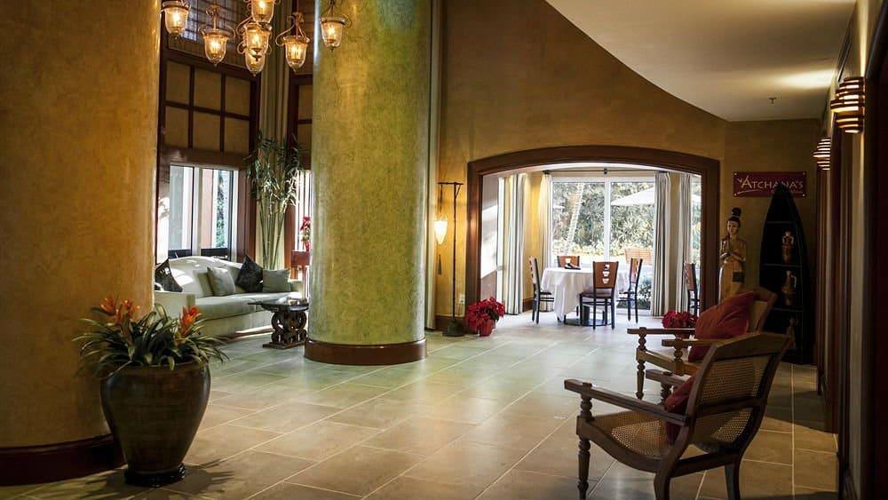 the mutiny hotel lobby in Coconut Grove