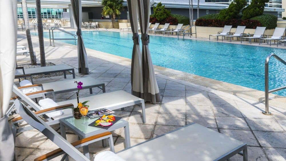 Conrad Miami outdoor pool in Downtown Miami
