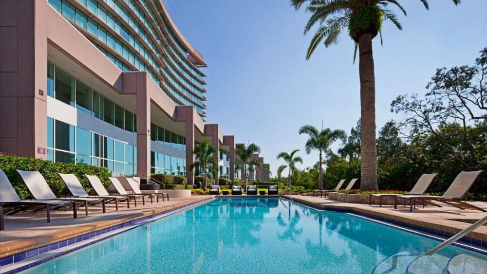 Grand Hyatt outdoor pool in Tampa Florida