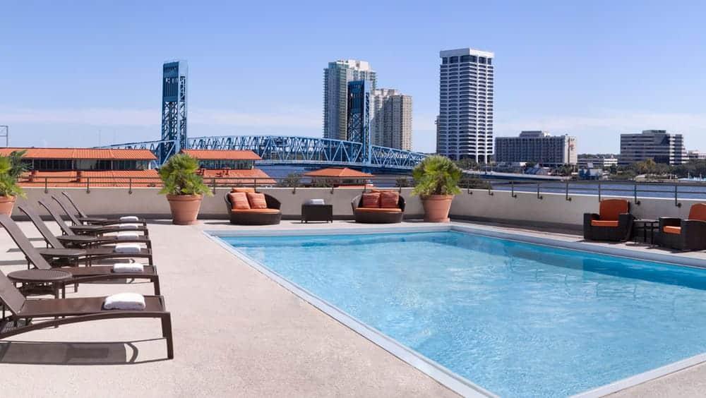 Omni Jacksonville Hotel pool in Jacksonville