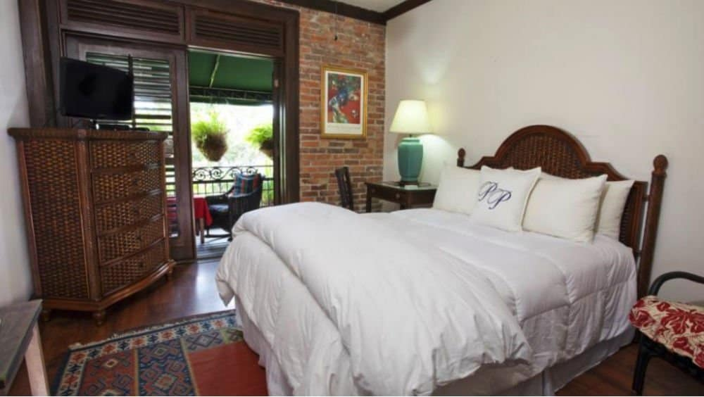 Park Plaza Hotel bedroom in Winter Park Florida