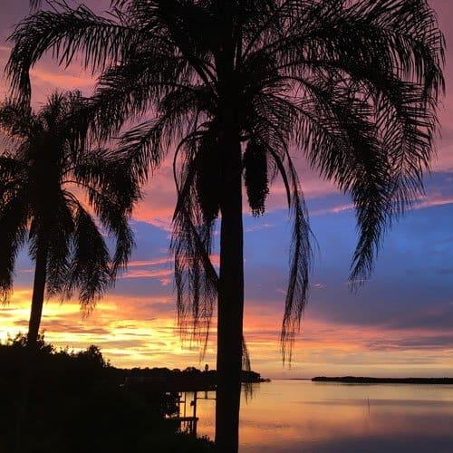 Sunset in Tampa Florida
