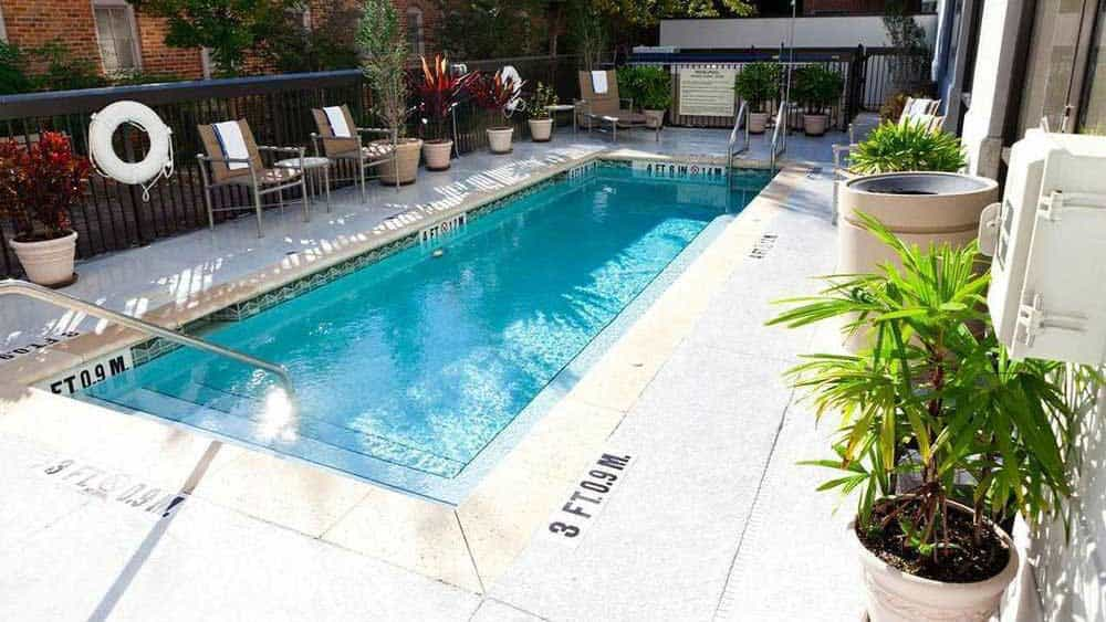 Hampton Inn pool on Daytona Beach