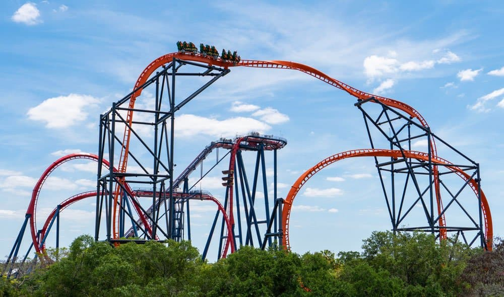 Tigris Track with SheiKra theme parks in florida