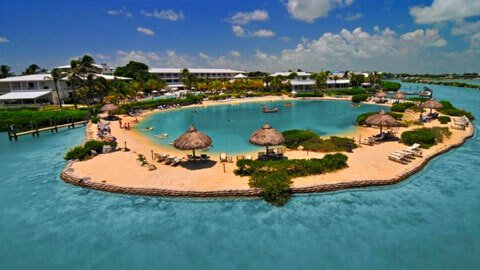 Hawks Cay Resort beach in Marathon Florida