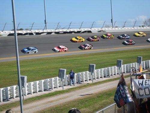 Motor race near the Kennedy Space Center