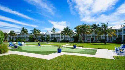 Tranquility Bay Beach House Resort gardens in Marathon Florida