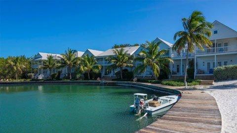 Tranquility Bay Beach House Resort marina in Marathon Florida