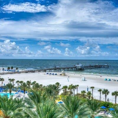 Clearwater beach in St Petersburg Florida