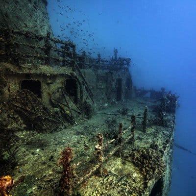 Shipwreck in Islamorada crystal waters