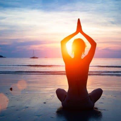 Yoga on the beach in Coconut Grove