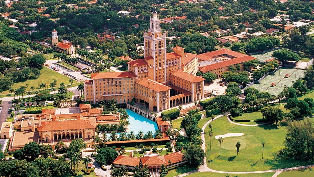 Biltmore Hotel Miami overhead 02 coral gables holidays