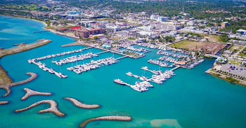 Marina aerial Fort Pierce Treasure Coast