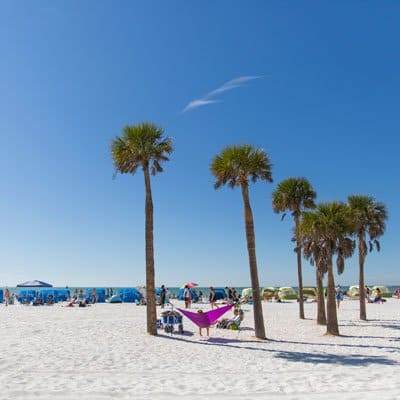 Clearwater and St Petersburg Florida beach