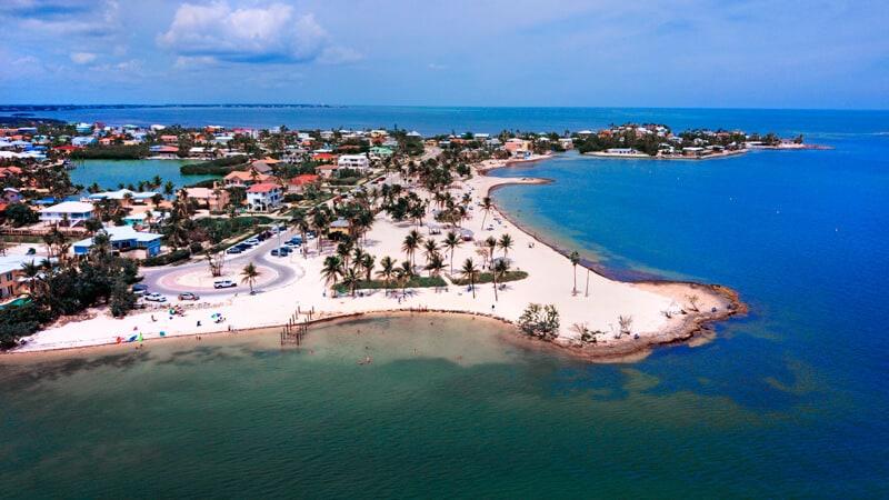 SOMBRERO BEACH AERIAL MARATHON KEY Offbeat side of Florida