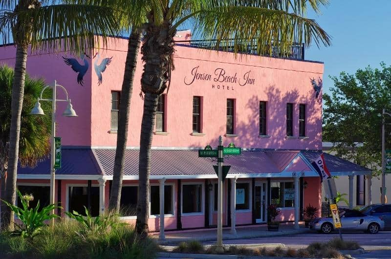 Jensen Beach Inn pink monday