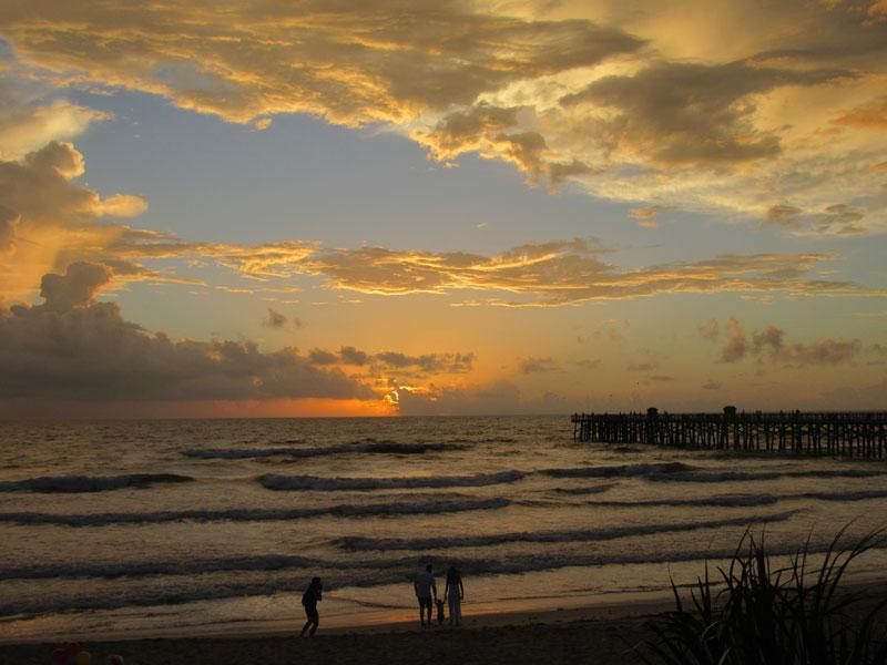 Sunrise at Flagler Beach Pier All-American Road